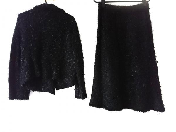 INGEBORG(インゲボルグ) スカートスーツ サイズM レディース美品  黒 ラメ