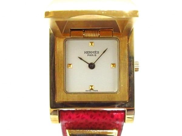 HERMES(エルメス) 腕時計 メドール レディース 革ベルト/○W 白