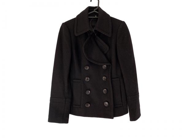 バーバリーブラックレーベル Pコート サイズ38 M レディース美品  黒 冬物
