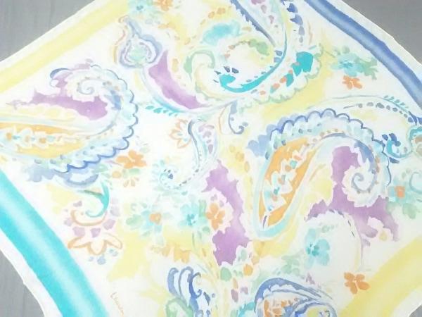 RalphLauren(ラルフローレン) スカーフ美品  ライトブルー×イエロー×マルチ