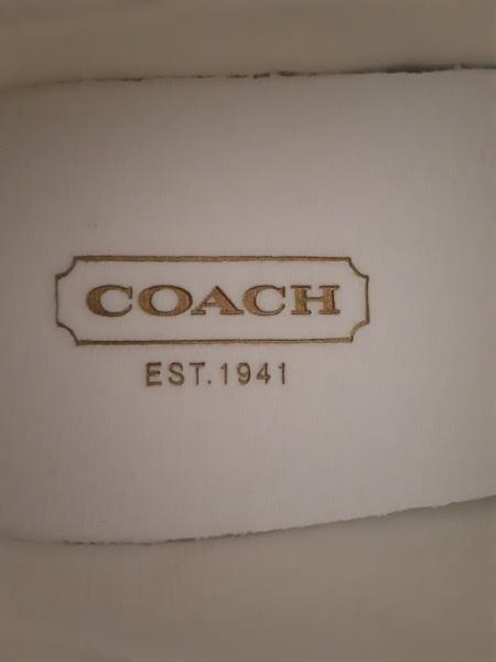 COACH(コーチ) シューズ 5 1/2 レディース ピンク×白 化学繊維×ジャガード