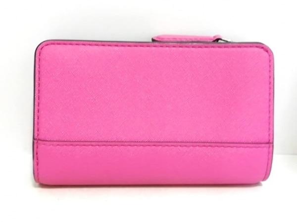 マークジェイコブス 2つ折り財布美品  ピンク×黒 レザー 2
