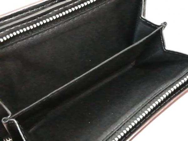 マークジェイコブス 2つ折り財布美品  ピンク×黒 レザー 4