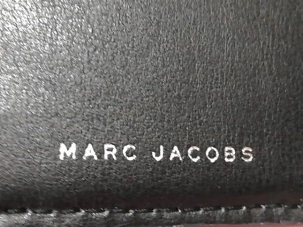 マークジェイコブス 2つ折り財布美品  ピンク×黒 レザー 5