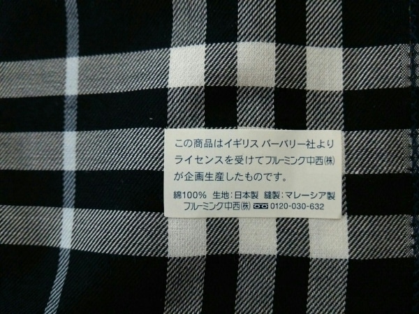 バーバリーロンドン ハンカチ美品  ベージュ×黒×マルチ 2枚組セット/チェック柄