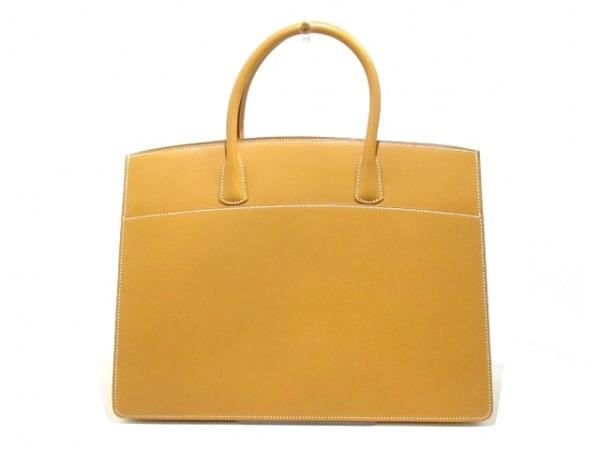 HERMES(エルメス) ハンドバッグ美品  ホワイトバスGM ナチュラル ヴァッシュ