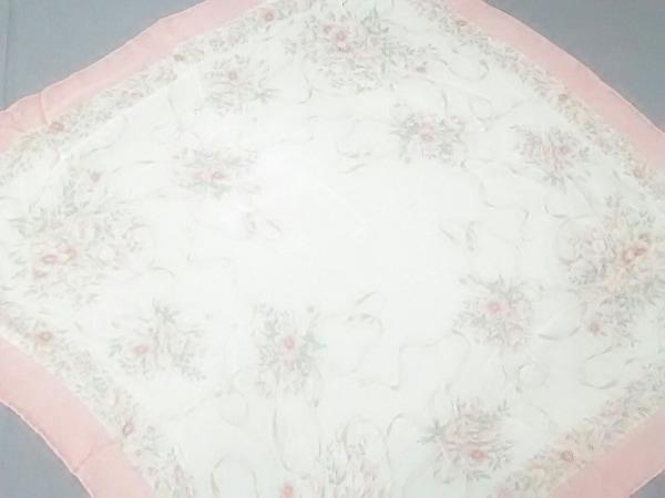 NINARICCI(ニナリッチ) スカーフ美品  アイボリー×ピンク×マルチ 花柄