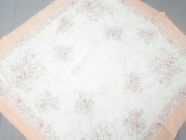 NINARICCI(ニナリッチ) スカーフ美品  オレンジ×アイボリー×マルチ 花柄