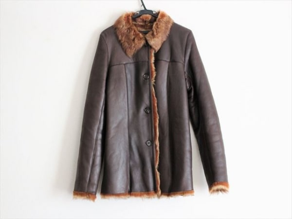 MOGA(モガ) コート サイズ2 M レディース ダークブラウン 冬物/ファー