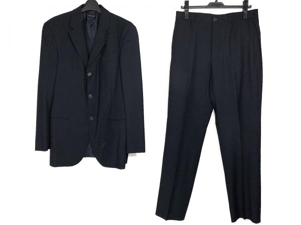 ジョルジオアルマーニ シングルスーツ サイズ48 M メンズ ダークネイビー