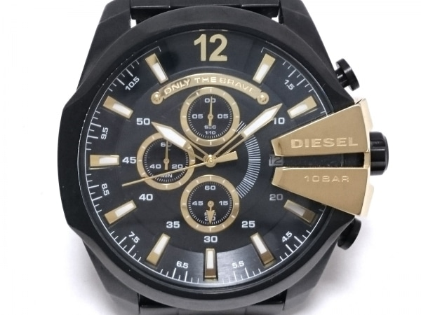 DIESEL(ディーゼル) 腕時計 DZ-4338 メンズ クロノグラフ 黒