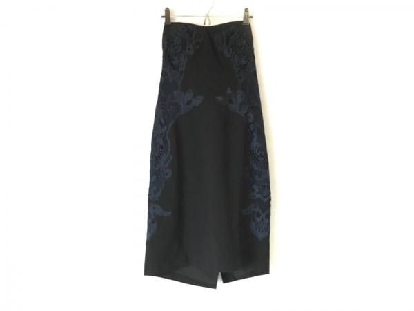 ダイアン・フォン・ファステンバーグ ドレス サイズ8 M レディース美品  黒×ネイビー