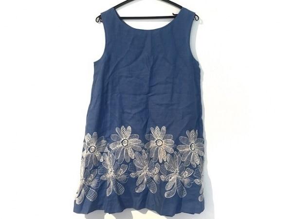 タバサ ワンピース サイズ36 S レディース ライトブルー×アイボリー plus/花柄/刺繍
