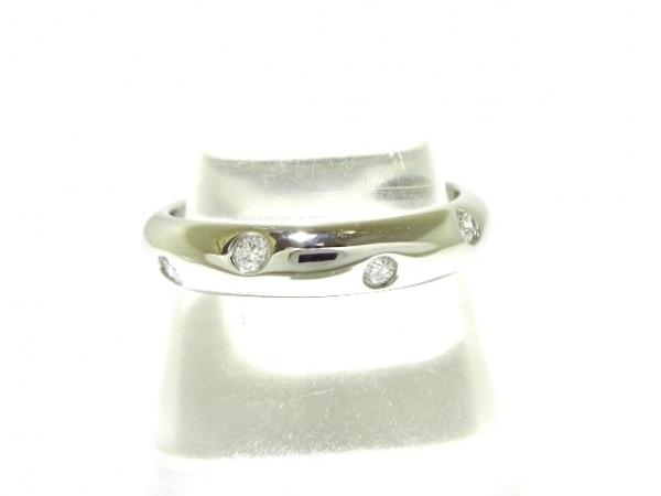 TIFFANY&Co.(ティファニー) リング美品  ドッツリング Pt950×ダイヤモンド 10Pダイヤ