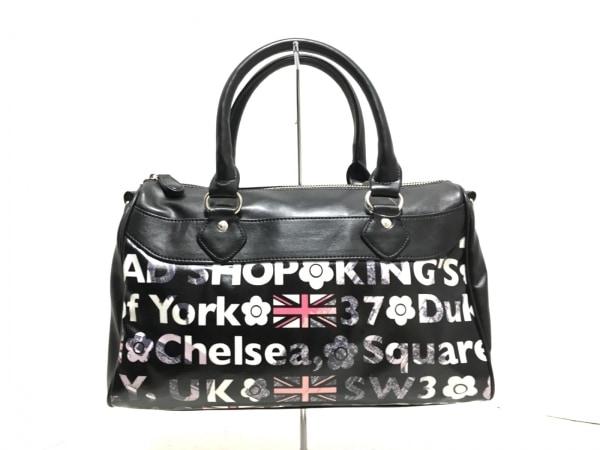 MARY QUANT(マリークワント) ハンドバッグ美品  黒×白×マルチ LONDON