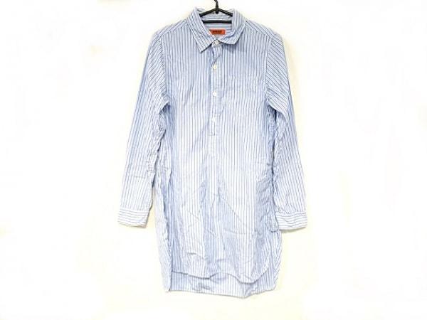 OMNIGOD(オムニゴッド) ワンピース サイズ2 M レディース美品  白×ブルー×マルチ