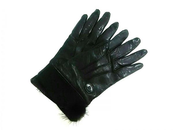 FENDI(フェンディ) 手袋 L レディース 黒 レザー×スエード