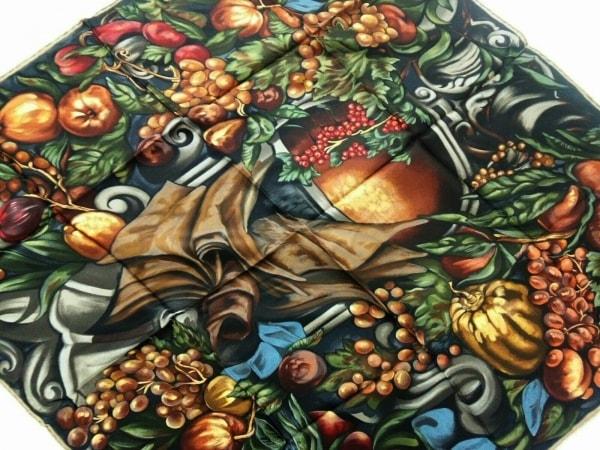 ChristianDior(クリスチャンディオール) スカーフ 黒×ブラウン×マルチ
