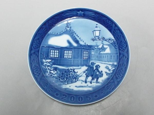 ロイヤルコペンハーゲン プレート新品同様  ブルー×ライトブルー 1