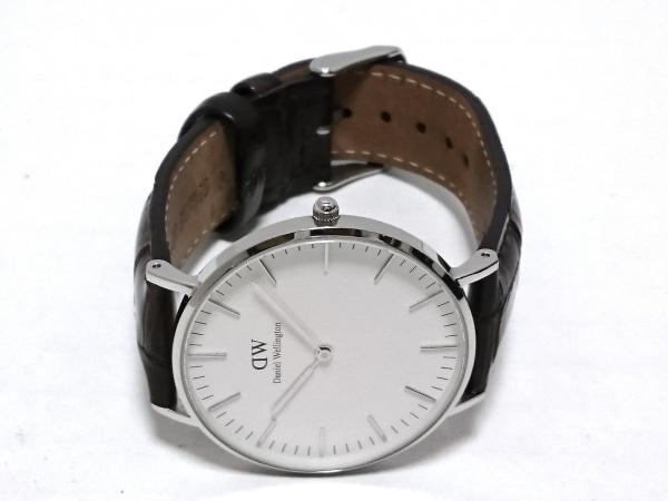 ダニエルウェリントン 腕時計 Classic O36S1 レディース 革ベルト 白