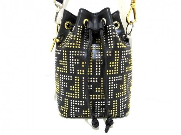 FENDI(フェンディ) ハンドバッグ美品  モントレゾール 8BS010 黒×シルバー×ゴールド