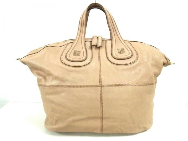 GIVENCHY(ジバンシー) ハンドバッグ美品  ナイチンゲール ベージュ レザー