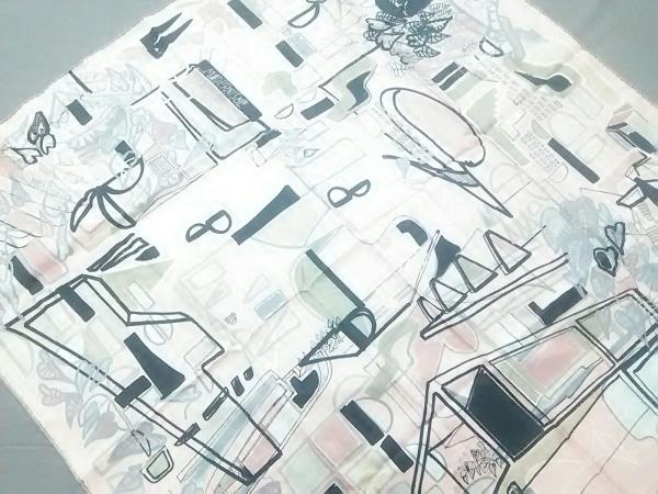 HERMES(エルメス) スカーフ カレ ピンク×マルチ MODERNISME TROPICAL