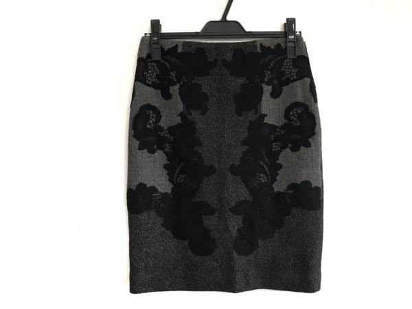 ダイアン・フォン・ファステンバーグ スカート サイズ2 S レディース美品  グレー×黒