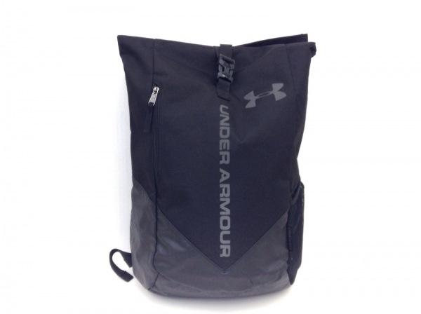 UNDER ARMOUR(アンダーアーマー) リュックサック 黒×ダークグレー ポリエステル