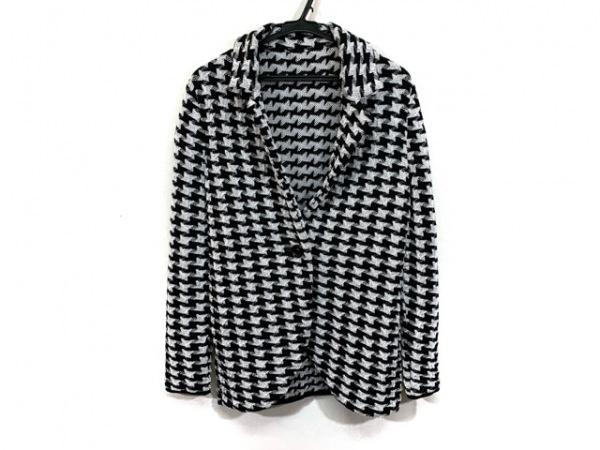 ダーマコレクション ジャケット サイズM レディース美品  黒×ライトグレー ニット