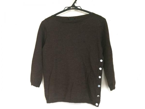 ポールスミスブラック 七分袖セーター サイズM レディース美品  ダークブラウン