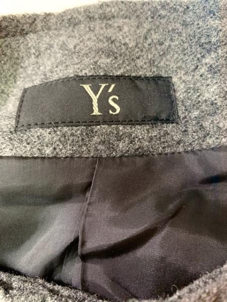 Y's(ワイズ) ブルゾン サイズ1 S レディース ダークグレー ニット/冬物