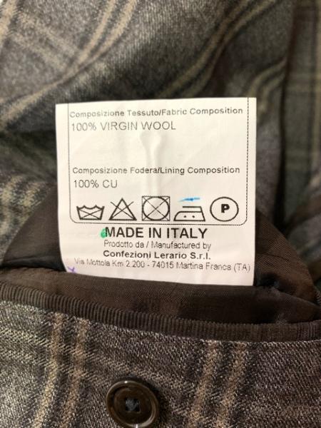 タリアトーレ ジャケット サイズ50 メンズ美品  ダークグレー×グレー×ベージュ