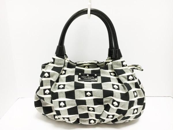 ケイトスペード ハンドバッグ シグネチャースペード スモールカレン PXRU3001 黒×白