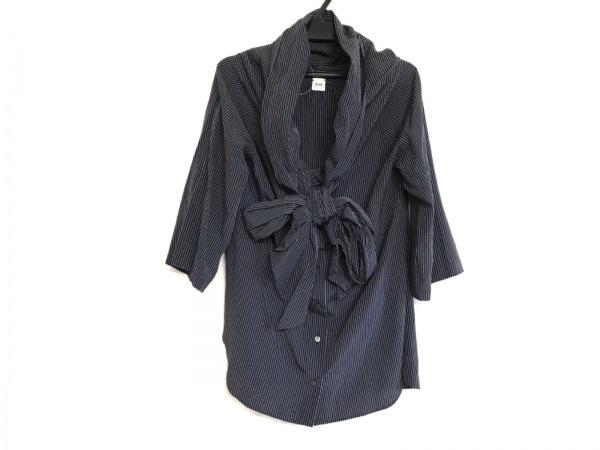 ELIN(エリン) 七分袖シャツブラウス サイズ38 M レディース美品  ダークネイビー×白