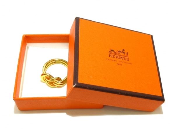 HERMES(エルメス) スカーフリング美品  アタメ 金属素材 ゴールド 6