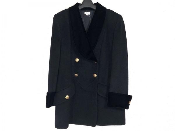 FOXEY(フォクシー) コート サイズ38 M レディース 黒 BOUTIQUE/冬物/ベロア