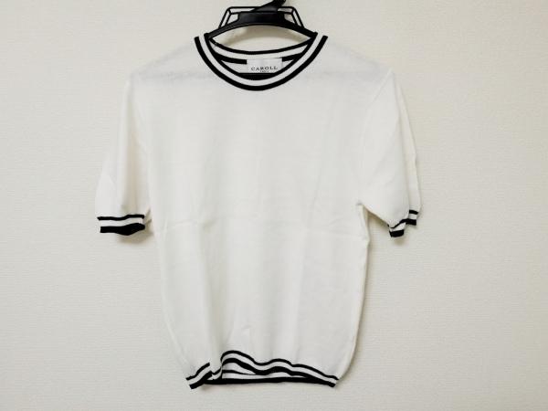 CAROLL(キャロル) 半袖カットソー レディース 白×ダークネイビー 1