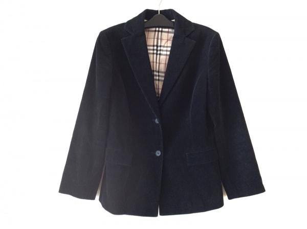 バーバリーロンドン ジャケット サイズ40 L レディース 黒 コーデュロイ