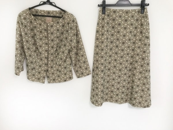 シビラ スカートセットアップ サイズ1 S レディース美品  ライトブラウン×黒 花柄