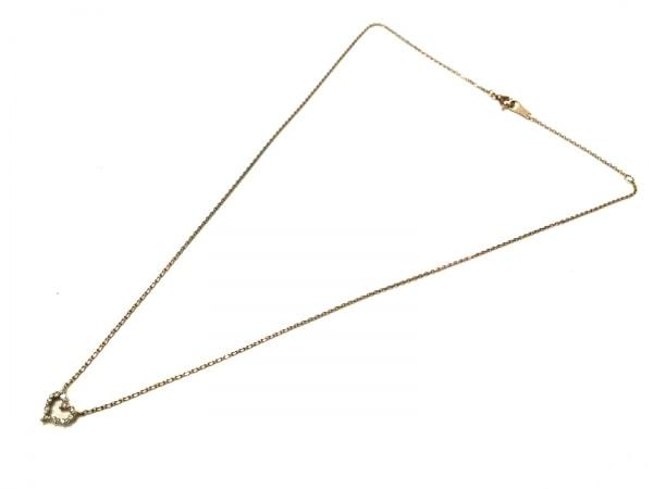 アガット ネックレス美品  K10×ダイヤモンド ハート/0.06カラット 2