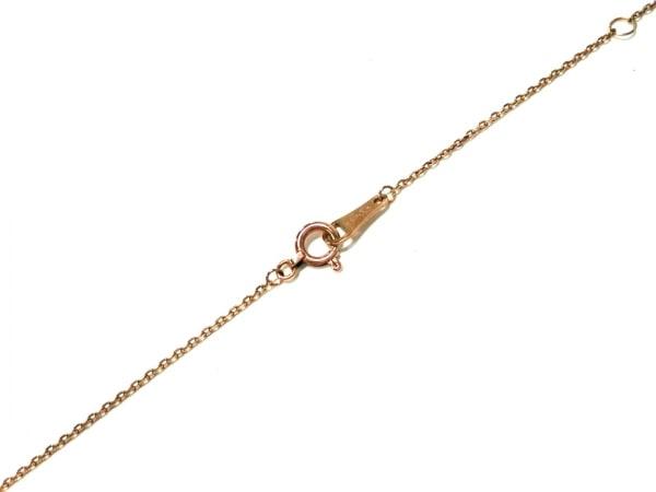 アガット ネックレス美品  K10×ダイヤモンド ハート/0.06カラット 4
