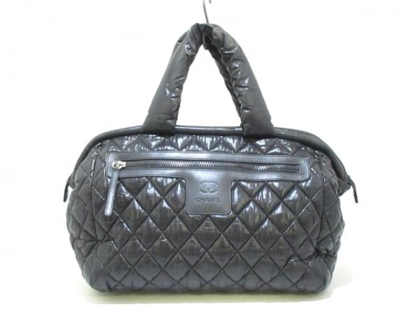 CHANEL(シャネル) ハンドバッグ美品  コココクーン A47205 黒 ナイロン
