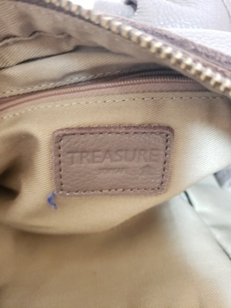 TREASURE TOPKAPI(トレジャートプカピ) ショルダーバッグ ライトグレー レザー