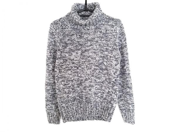 アルテア 長袖セーター サイズXS メンズ ダークネイビー×白×マルチ タートルネック