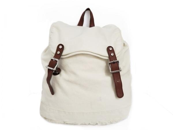 UNGRID(アングリッド) リュックサック美品  白×ブラウン キャンバス×合皮