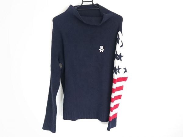 CALLAWAY(キャロウェイ) 長袖セーター サイズL レディース ネイビー×白×レッド