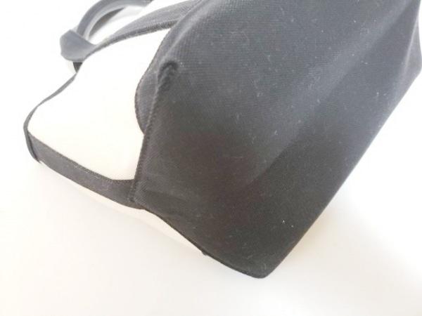 ユーエスポロアソシエーション ハンドバッグ アイボリー×黒×ダークブラウン