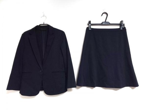 UNTITLED(アンタイトル) スカートスーツ サイズ2 M レディース ダークネイビー 薄手