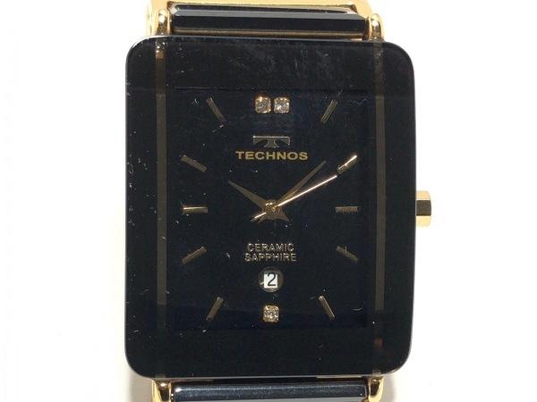 TECHNOS(テクノス) 腕時計 T9137 メンズ 黒
